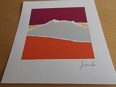 Arthur SECUNDA abstract LITHO vintage original 1984 hand signed RARE Meissner