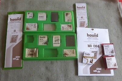 Assorted Black Hawid Stamp Mounts and Strips