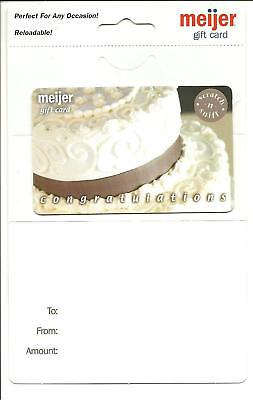 Meijer Scratch & Sniff Cake Congratulations Gift Card No $ Value Collectible