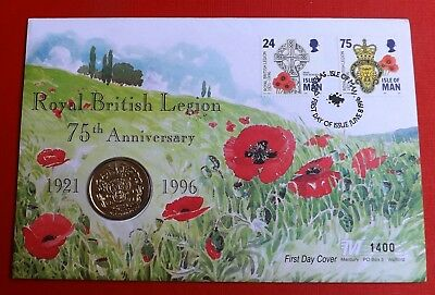 Isle Of Man 1996 Two Pounds In First Day Cover