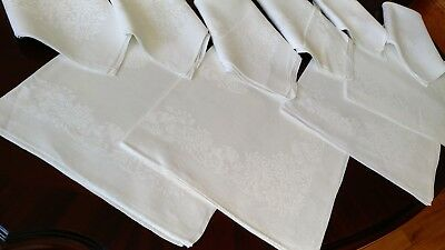 Set_Of_10_Antiques_French_Linen_Damask_Large_Napkins
