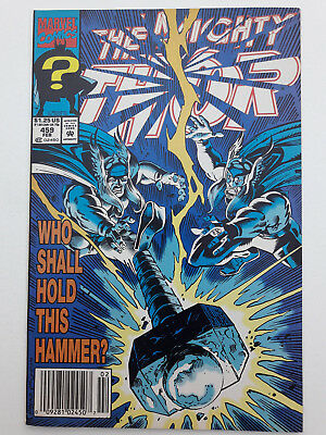 THOR #459, 1993, FN 6.0, Thunderstrike, by Tom DeFalco & Ron Frenz, + pinups
