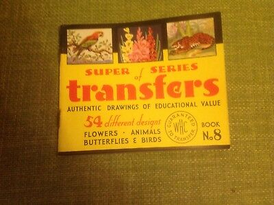 Vintage Retro Rare SUPER SERIES OF TRANSFERS WHC LTD BOOK No 8