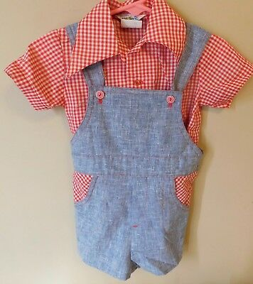 Vintage Boys Overhaul Outfit Little Boy Blue Tagged 2 T