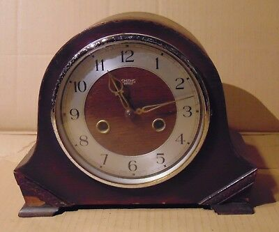1950s Smiths Enfield Wood Cased Mantel Clock