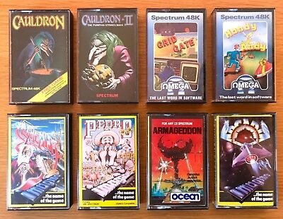 ZX Spectrum...9 GAMES inc. CAULDRON, EVIL DEAD, HANDY ANDY, PEDRO, ARMAGEDDON ++