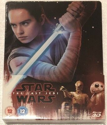Star Wars The Last Jedi 3D Steelbook - UK Exclusive Limited Edition Blu-Ray