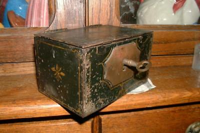 1800s Originl Steel Strong Box Safe > Great Condition > Keys and Locks bank