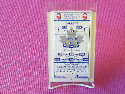 CANADIAN 1976 WINTER OLYMPICS Metric Converter Slide Chart - NICE AND CLEAN