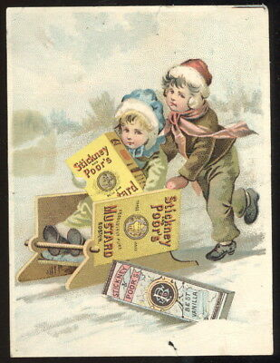 1880-90S Trade Card Advertising Stickney & Poor's Mustard, Spices & Extracts