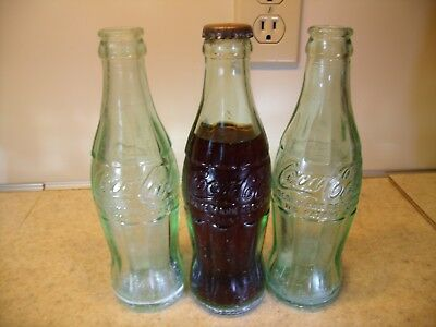 EARLY 3 (THREE) HICKORY, N.C. Coca Cola Bottle ONE STILL FULL