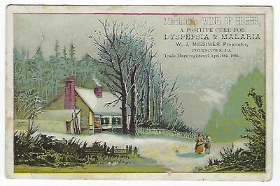Missimer's Wine Of Herbs 1887 medicine trade card #B - Pottstown, PA