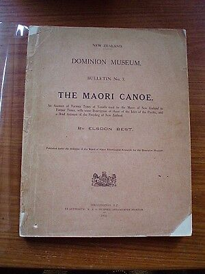 The Maori Canoe ...rare 1925 Book