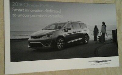 2018  Chrysler Pacifica  Original Intro Factory Sales  Brochure 44 Pages