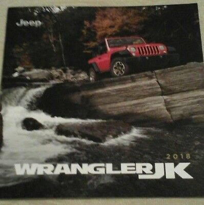 2018 JEEP WRANGLER JK 24-page Original Sales Brochure