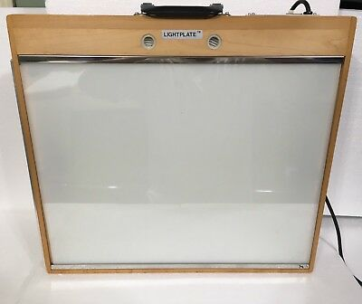 Vintage ALVIN Craftlite Portable Light Box-Real Wood-Great Condition-Works Great