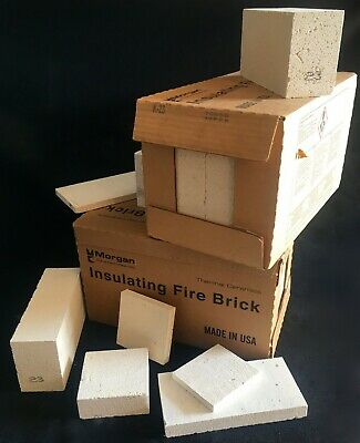 "K-23 Insulating Firebrick 9 x 4.5 x1""  Thermal Ceramic Fire Bricks SIX (6) Pack"