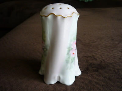 Porcelain Sugar Caster/ Muffineer/ Bavaria/ Early 1900's/ Hand Painted, Signed