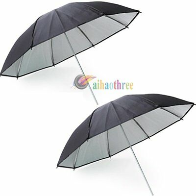 "2Pcs 33""/83cm Professional Studio Strobe  Flash Light Reflector Umbrella"