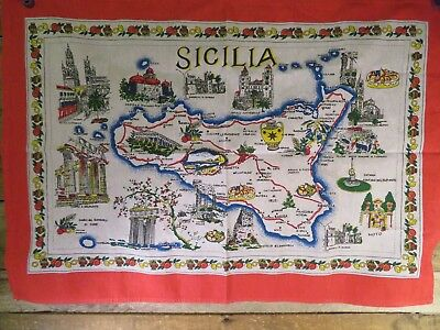 "SICILIA Italy Banner Flag Tapestry 33"" x 23"""