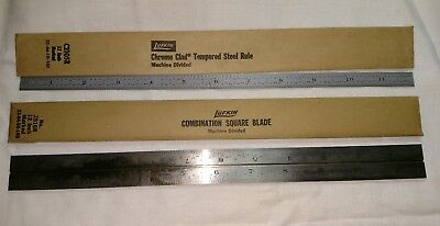 """Lufkin Tool - 12"""" Grooved Combination Square Blade and Tempered Steel Rule"""