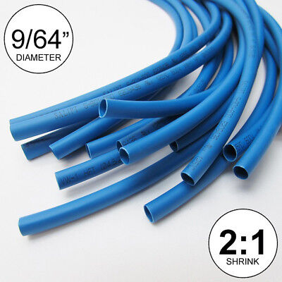 """inch//feet//to 1mm 5//128/"""" ID Clear Heat Shrink Tube 2:1 ratio wrap 14x9/""""= 10 ft"""