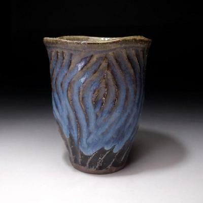 VA1: Japanese Whiskey Cup or Glass, Hagi Ware by Seigan Yamane, On the rocks