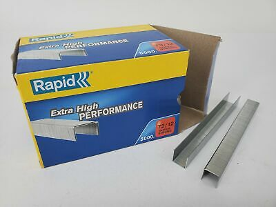 Rapid 73/12 Staples Box of 5000 70 Sheets - to Suit Rapid HD31 Stapler  0177071