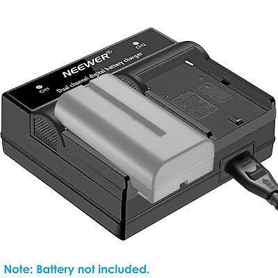 Neewer LED Dual Channel Digital Battery Charger for Sony NP-F550 F750 F730 F960