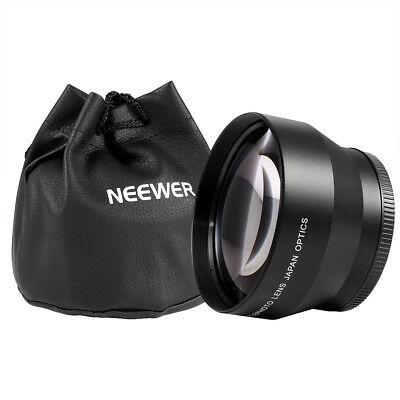Neewer 67mm 2.2x Magnification Telephoto Lens Professional HD f Canon Nikon Sony