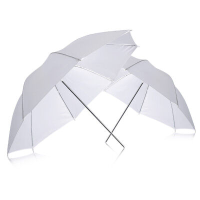 "Neewer 2-pack 33"" White Reflector Umbrella for Photography Studio Flash Light"