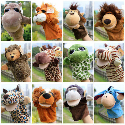 Animal Wildlife Hand Glove Puppet Soft Plush Puppets Kid Childrens Toy AU
