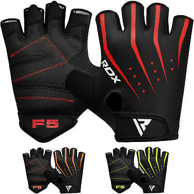 RDX Weight Lifting Bodybuilding Gym Fitness Leather Gloves Slim Fitting AU