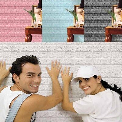 3D Waterproof Brick Pattern Wall Stickers Bedroom Decoration Wall Paper Retro