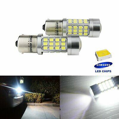 2x P21W 1156 R5W R10W LED Blanc Xenon 6000K Ampoules Feux de Stop Recul Position
