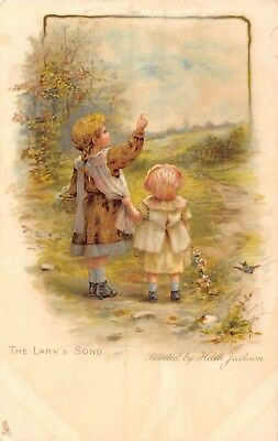 POSTCARD   CHILDREN     The  Lark's  Song    HELEN  JACKSON      Tuck