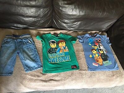 Boys Next Clothes Summer Bundle Age 4 5 Years Lego Movie