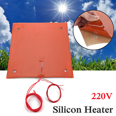 750W 31x31cm Silicone Heater Pad For Creality CR-10 3D Printer Bed w/Screw Holes