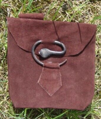 Gothic Middle Ages Larp Small Belt Bag Bag Made of Leather New