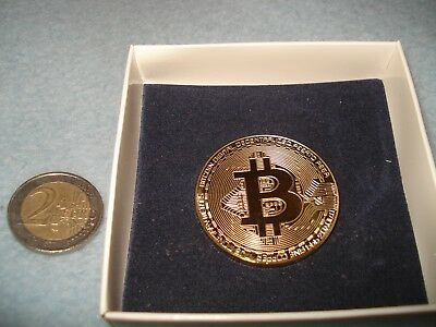 Bitcoin Commemorative Round Collectors Coin Bit Coin for 24K gold-plated