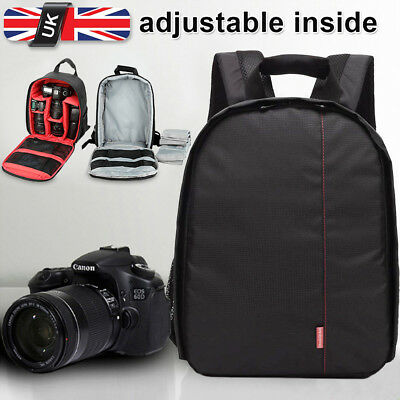 Concept DSLR SLR Camera Backpack Bag Case Waterproof For Canon EOS Nikon Sony UK