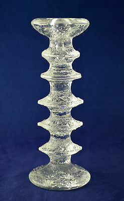 "IITTALA of Finland Crystal ""FESTIVO"" Candle Stick – 21.7cms (8-1/2″) Tall"
