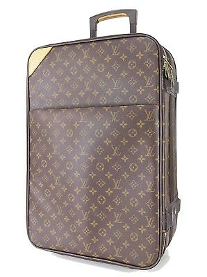 0379f698c546 Authentic LOUIS VUITTON Pegase 55 Monogram Canvas Travel Rolling Suitcase   29268