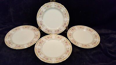 Montgomery Ward Fine China Chippendale Salad Plates 4 Pieces