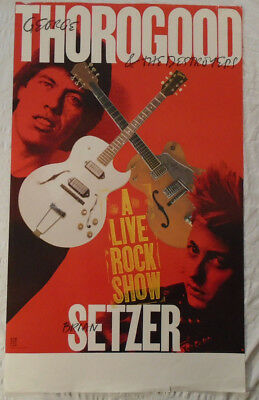 George Thorogood Brian Setzer 1988 Tour Poster Stray Cats Destroyers Live Rock