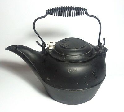 Antique CAST IRON TEA KETTLE - Signed: ERIE No. 7  Great Country Piece