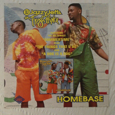 Jazzy Jeff & Fresh Prince Will Smith Promo Poster 1991 Early Rap Hip Hop