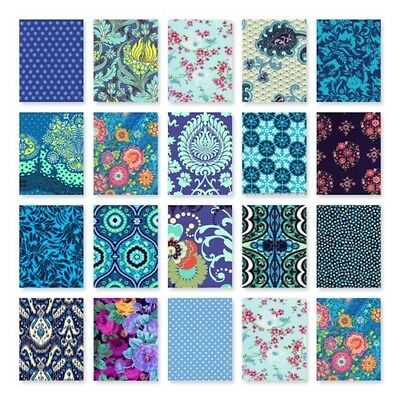 Patchwork/quilting squares BLUES 100% cotton 4.5inch (11.5cm) x 10 Pick and Mix!