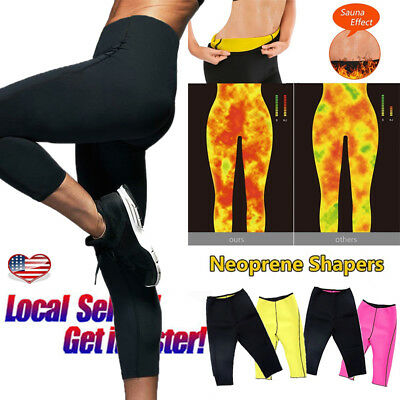 Hot Sweat Sauna Body Shaper Women Slimming Pants Thermo Neoprene Gym Trainer US