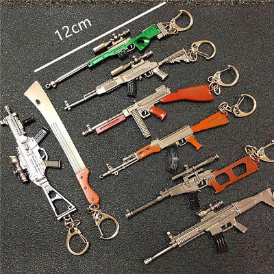 Revolver Pistol ​Weapon Pendant Mini Gun Model Metal Keyring Men's Key Chains